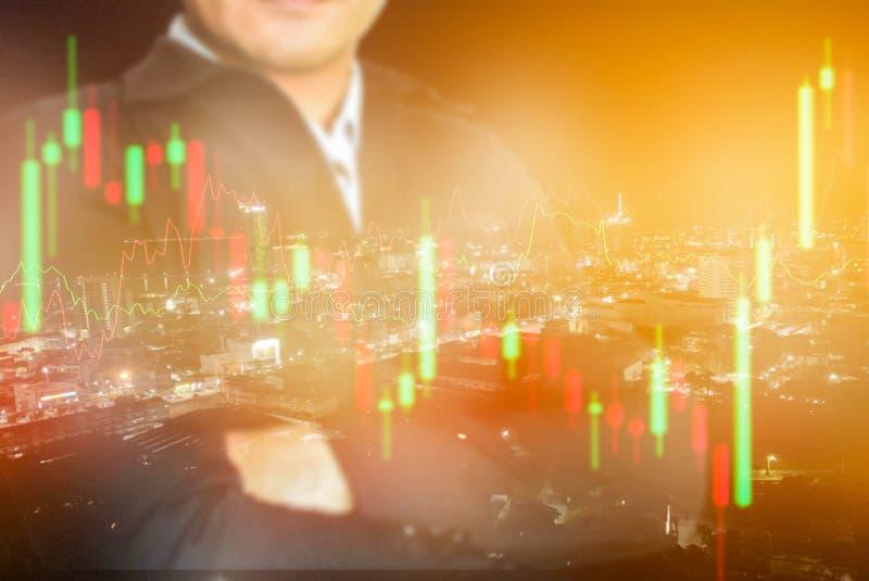 Affare, mercati finanziari, commercio dei forex fotografia stock libera da diritti