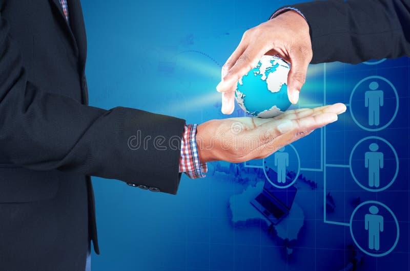 Affare, nuova tecnologia e concetto dell'ufficio fotografia stock