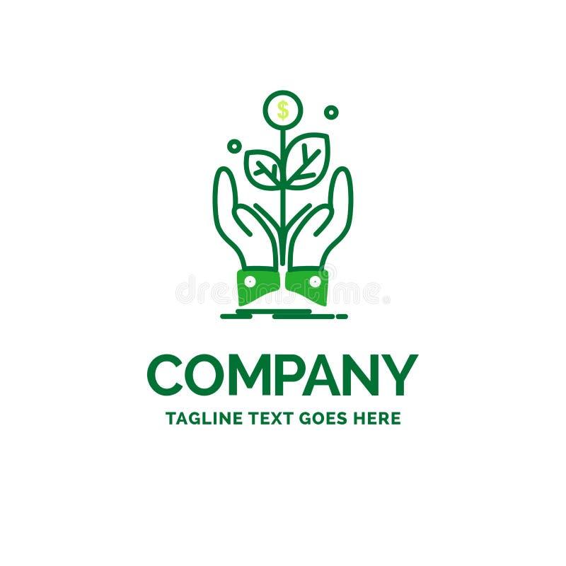 affare, società, crescita, pianta, templa piano di logo di affari di aumento illustrazione di stock