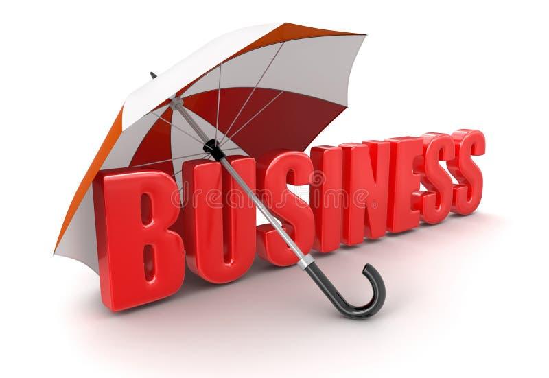Affare sotto l'ombrello (percorso di ritaglio incluso) illustrazione di stock