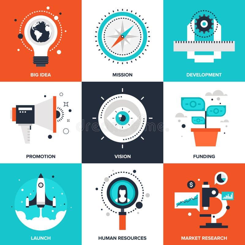 Affare Startup e nuovo illustrazione vettoriale