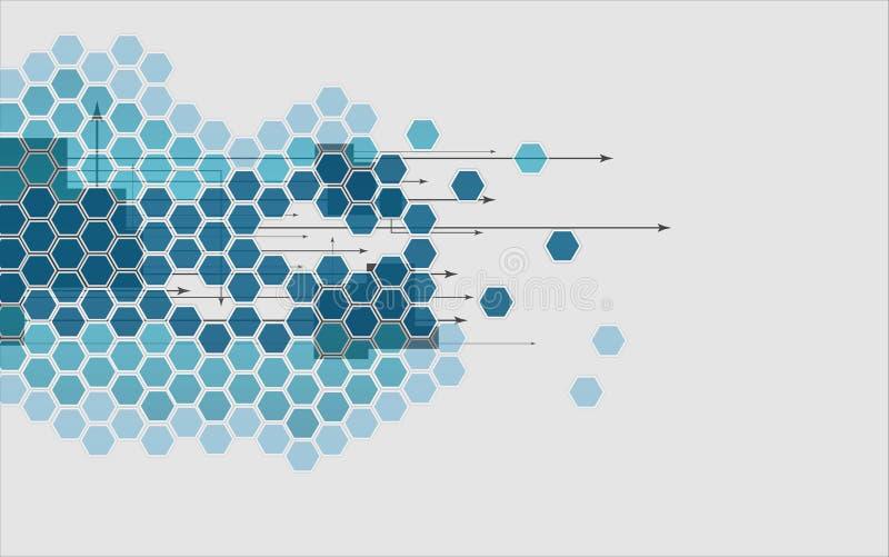 Affare & sviluppo astratti del fondo di tecnologia illustrazione vettoriale