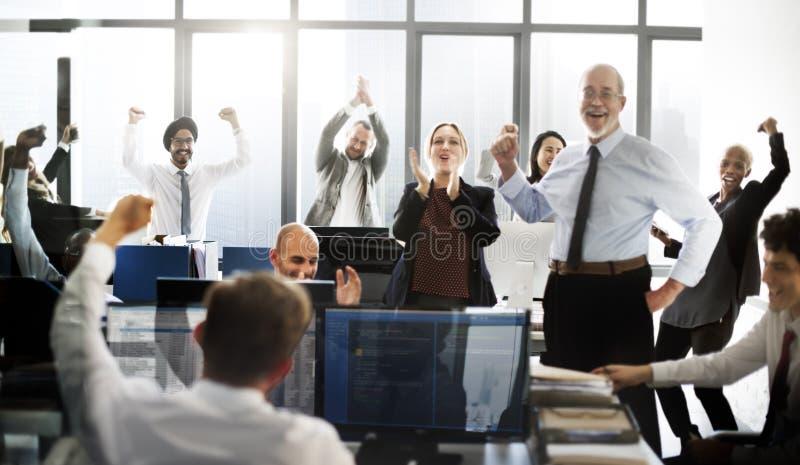 Affare Team Achievement Success Goals Concept fotografia stock libera da diritti