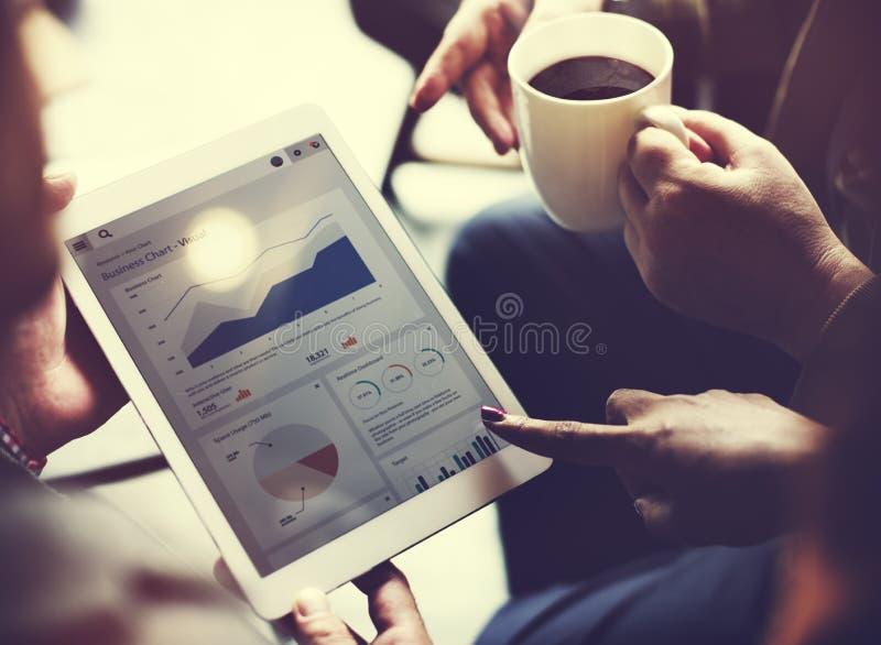 Affare Team Brainstorming Data Target Financial Cocnept fotografie stock