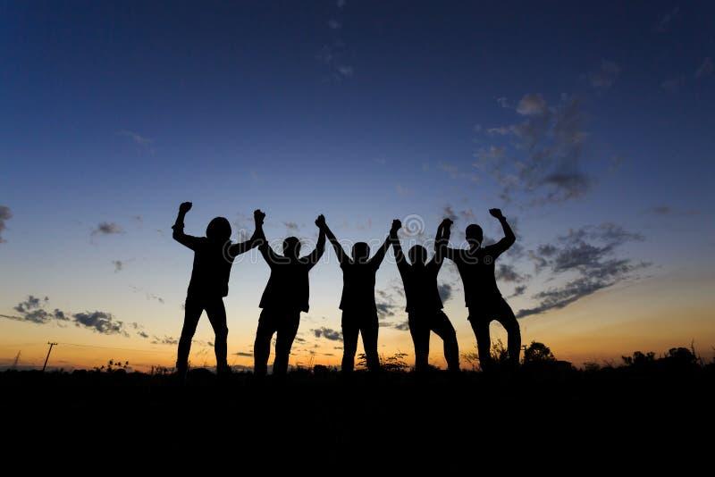 Affare Team Celebration Party Success Concept immagini stock