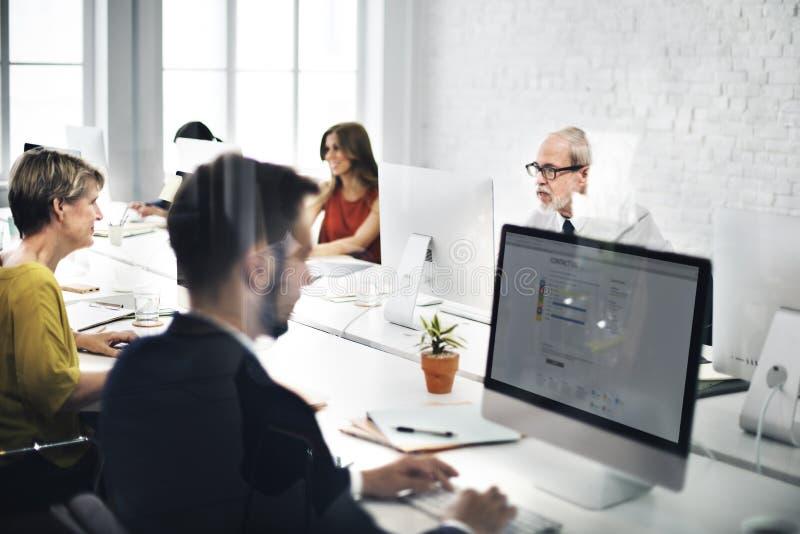 Affare Team Contact noi concetto di Internet del servizio d'assistenza immagine stock libera da diritti
