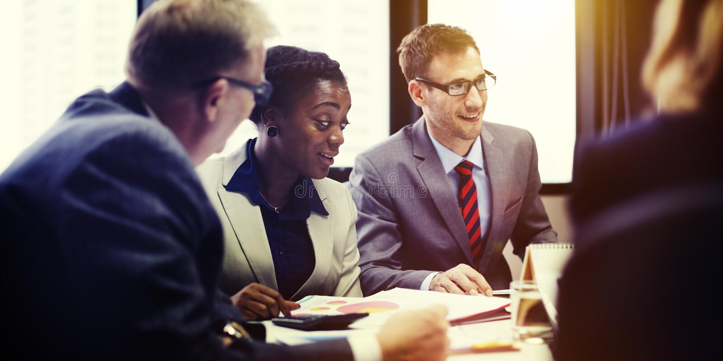 Affare Team Meeting Organization Corporate Concept immagini stock libere da diritti