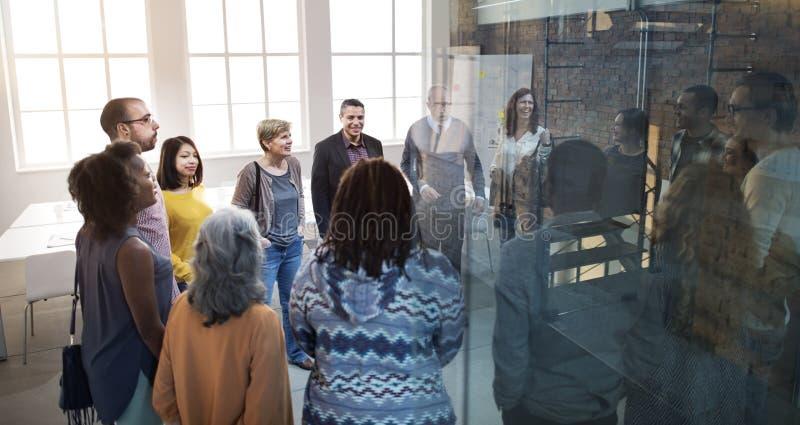 Affare Team Organization Brainstorming Meeting Concept fotografie stock