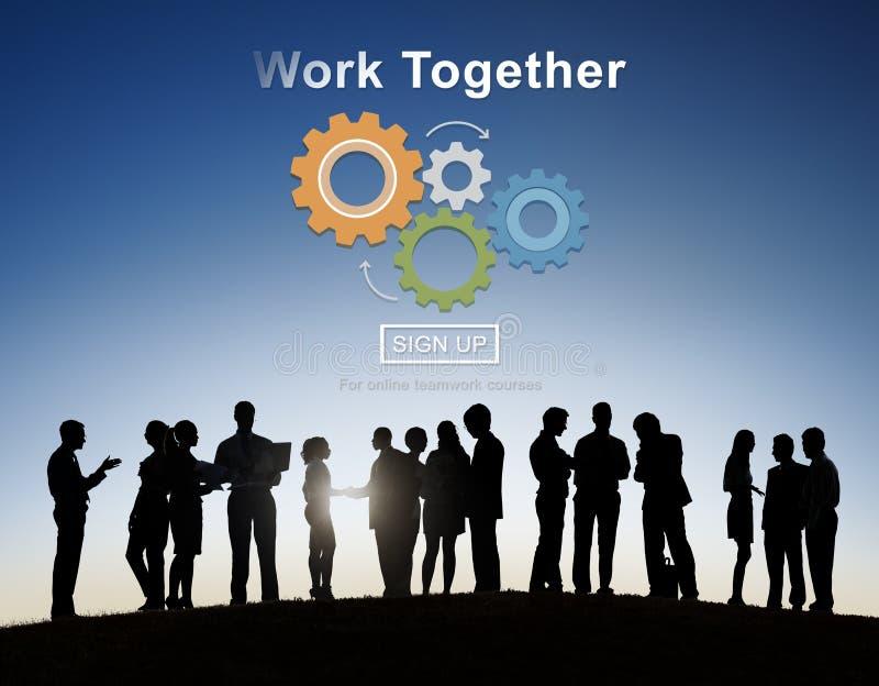 Affare Team Teamwork Collaboration Support Concept all'aperto fotografia stock libera da diritti