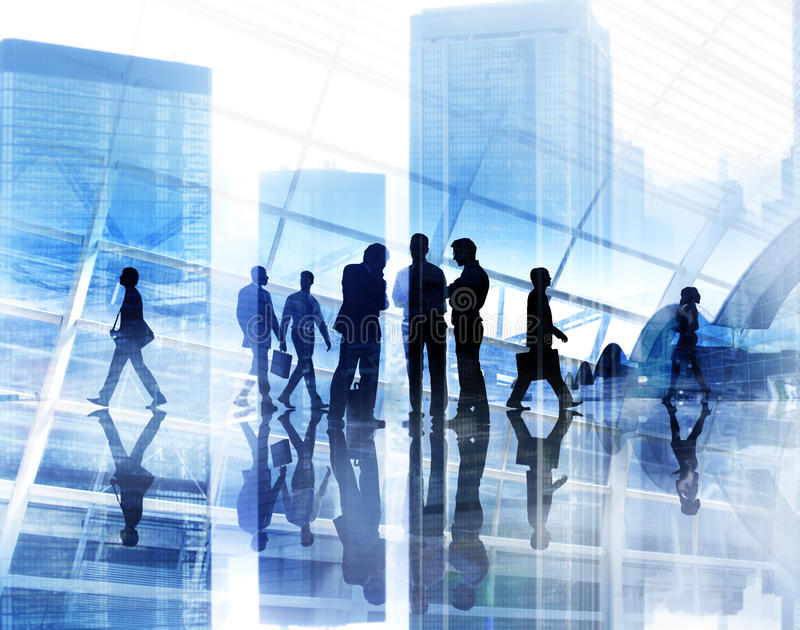 Affare Team Teamwork Meeting Collaboration Concept di Scape della città immagini stock