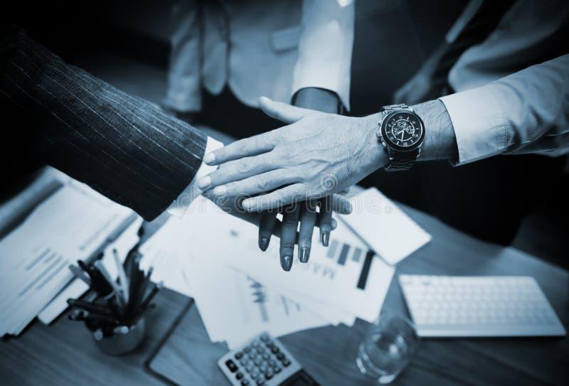 Affare Team Teamwork Partnership Together Concept fotografia stock