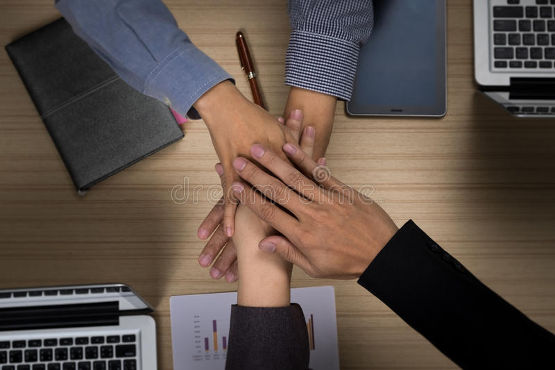 Affare Team Teamwork Partnership Together Concept immagini stock
