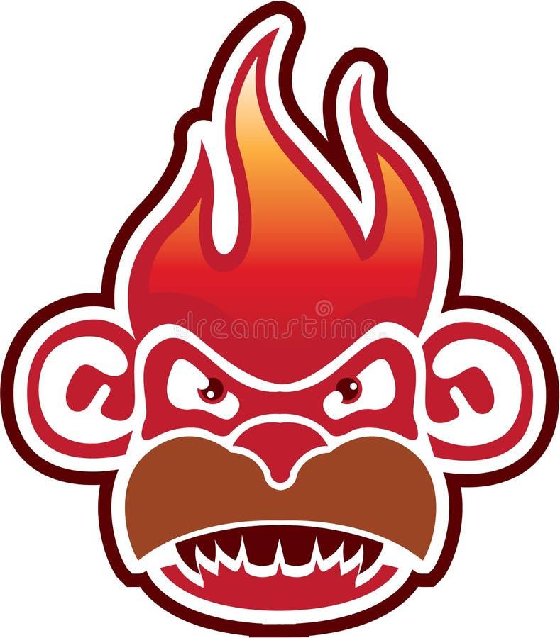 Affe-Gesicht Logo Vector lizenzfreie abbildung