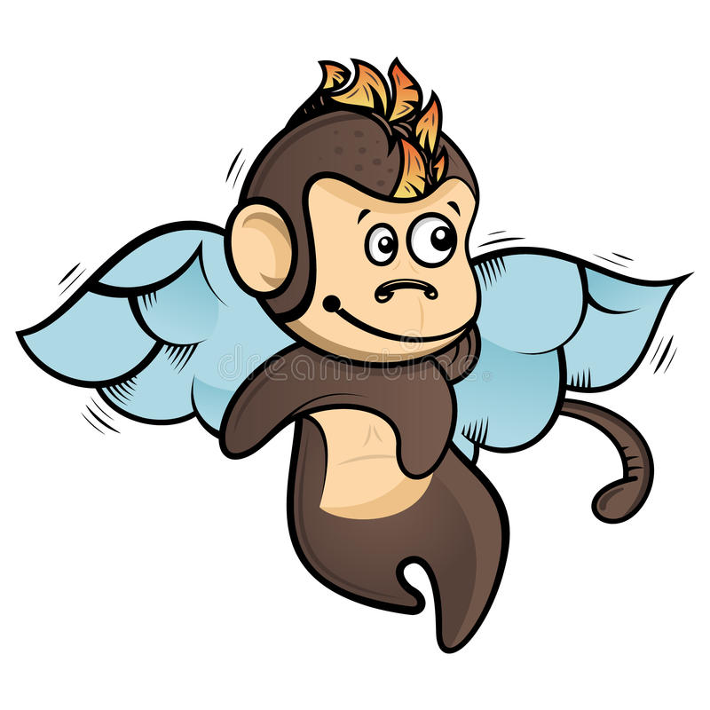 Affe mit Flügeln stock abbildung