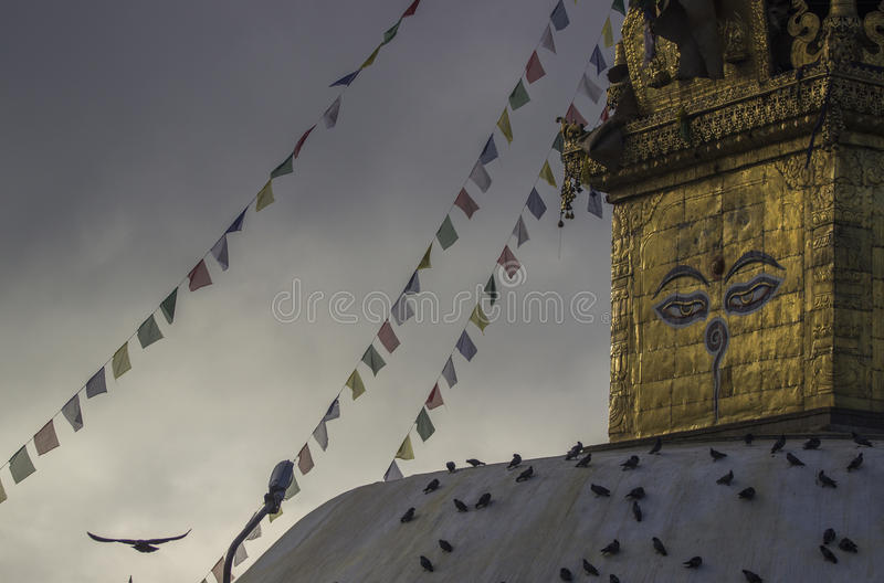 Affe-Tempel A K Ein Swayambhunath lizenzfreie stockfotografie