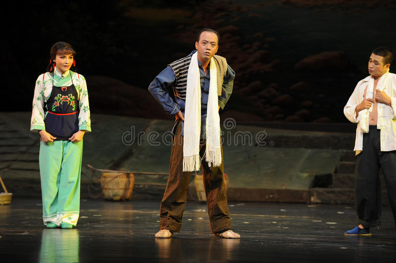 Affect a show of...- Jiangxi opera a steelyard. Jiangxi opera a steelyard is adapted from a true story: the last century fortys, the protagonists father runs an royalty free stock photos