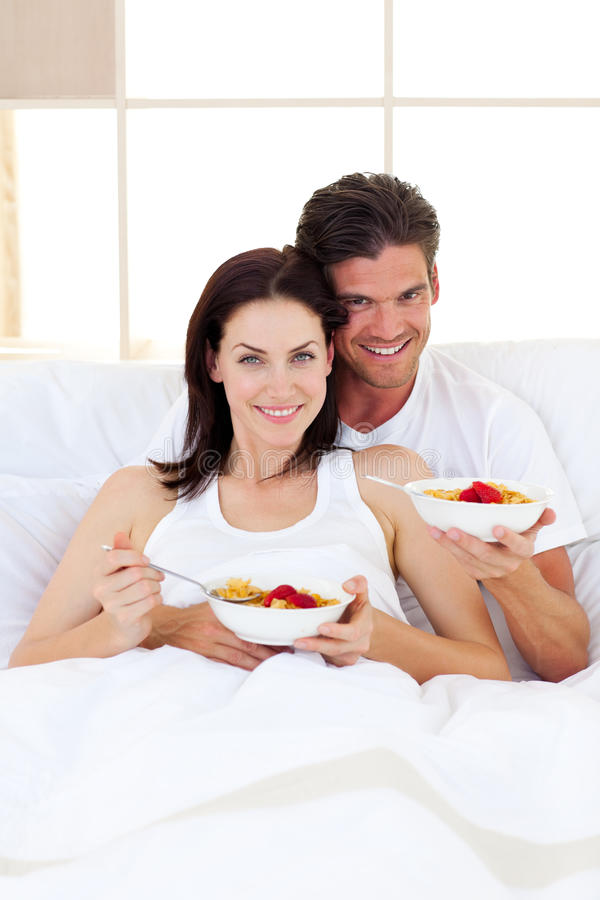 Download Affectionate Couple Having Breakfast Stock Photo - Image: 12725922