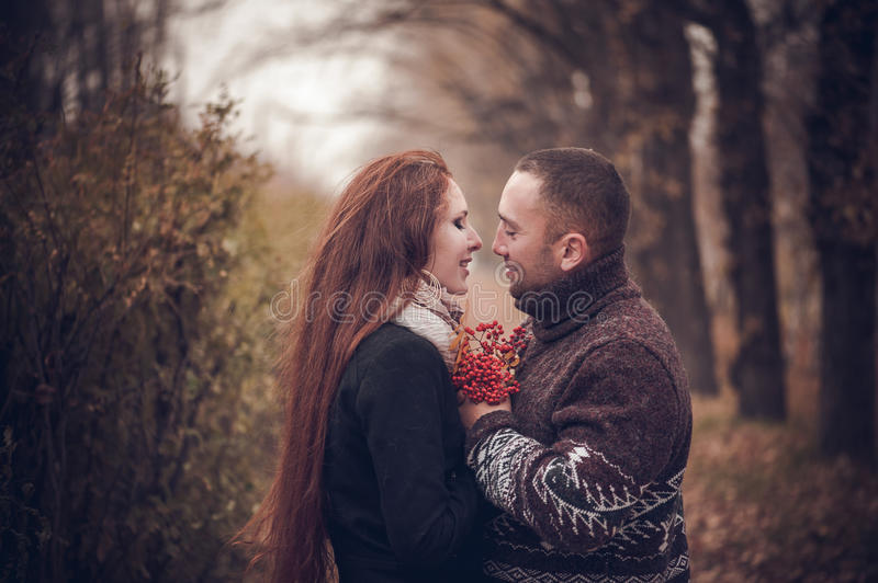 Affectionate couple in love royalty free stock photography