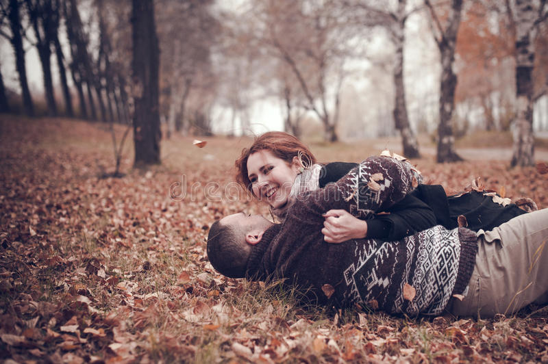 Affectionate couple in love stock photography