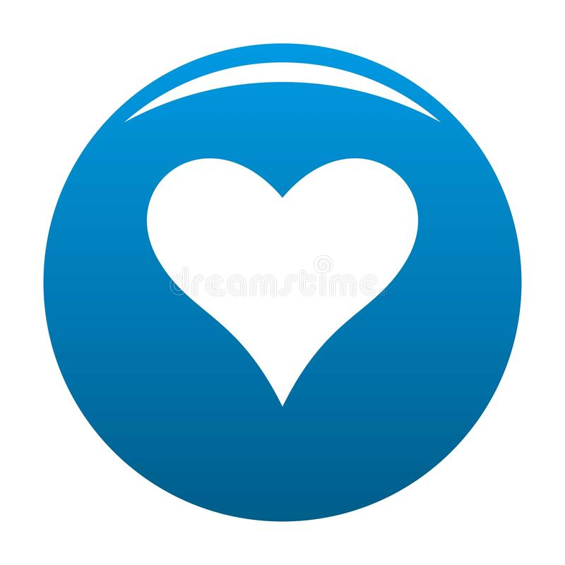 Affectionate heart icon blue. Affectionate heart icon. Simple illustration of affectionate heart icon for any design blue stock illustration