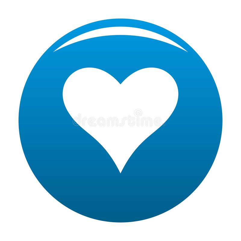 Affectionate heart icon vector blue. Affectionate heart icon. Simple illustration of affectionate heart vector icon for any design blue royalty free illustration