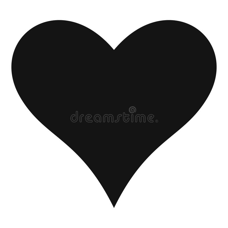 Affectionate heart icon, simple style. Affectionate heart icon. Simple illustration of affectionate heart vector icon for web stock illustration