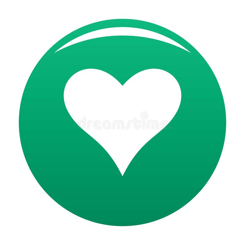 Affectionate heart icon vector green. Affectionate heart icon. Simple illustration of affectionate heart vector icon for any design green royalty free illustration