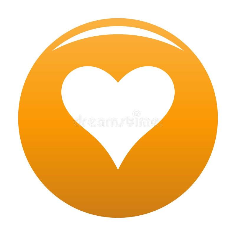 Affectionate heart icon vector orange. Affectionate heart icon. Simple illustration of affectionate heart vector icon for any design orange vector illustration