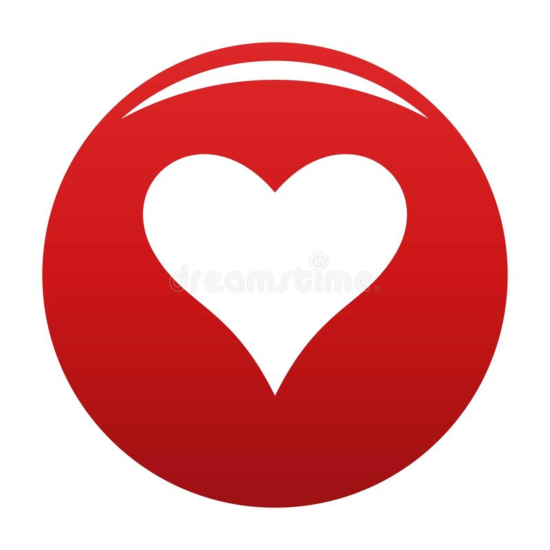 Affectionate heart icon vector red. Affectionate heart icon. Simple illustration of affectionate heart vector icon for any design red stock illustration