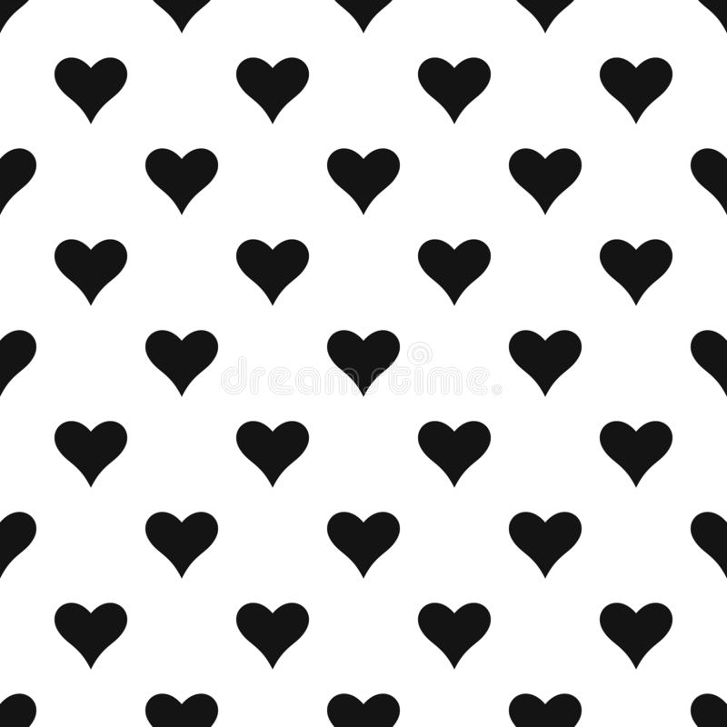 Affectionate heart pattern seamless vector. Repeat geometric for any web design vector illustration