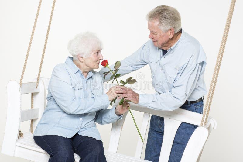 Affectionate Senior Couple Stock Photos