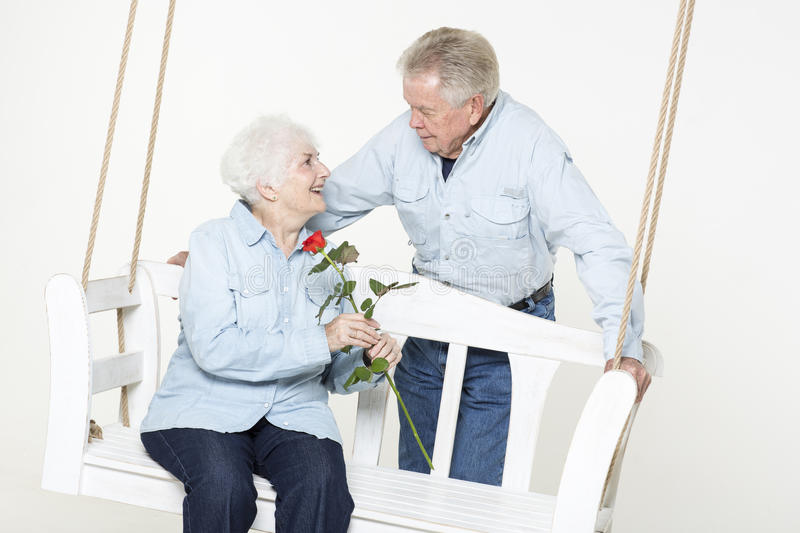 Download Affectionate senior couple stock photo. Image of family - 33488036