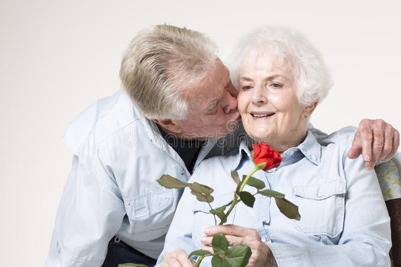 Download Affectionate senior couple stock image. Image of lifestyles - 33488545