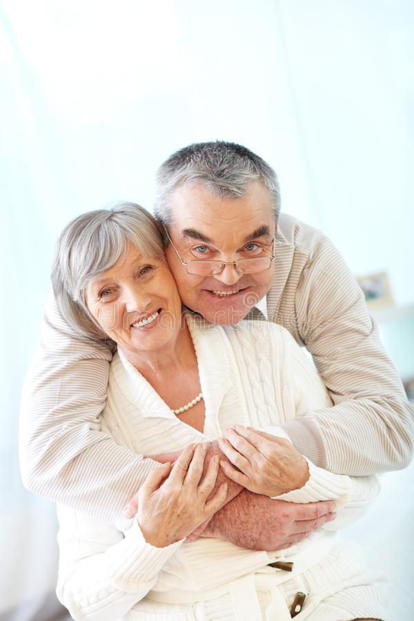 Affectionate Seniors Stock Photo