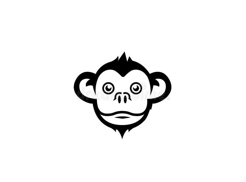 Affekopf und Lächelngesicht Logo lizenzfreie abbildung