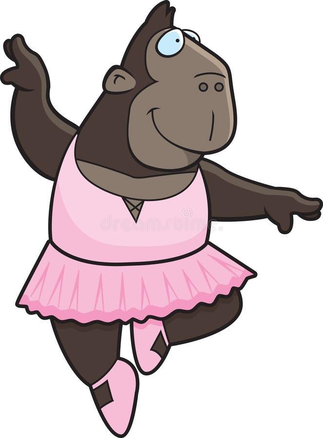 Affen-Ballerina stock abbildung