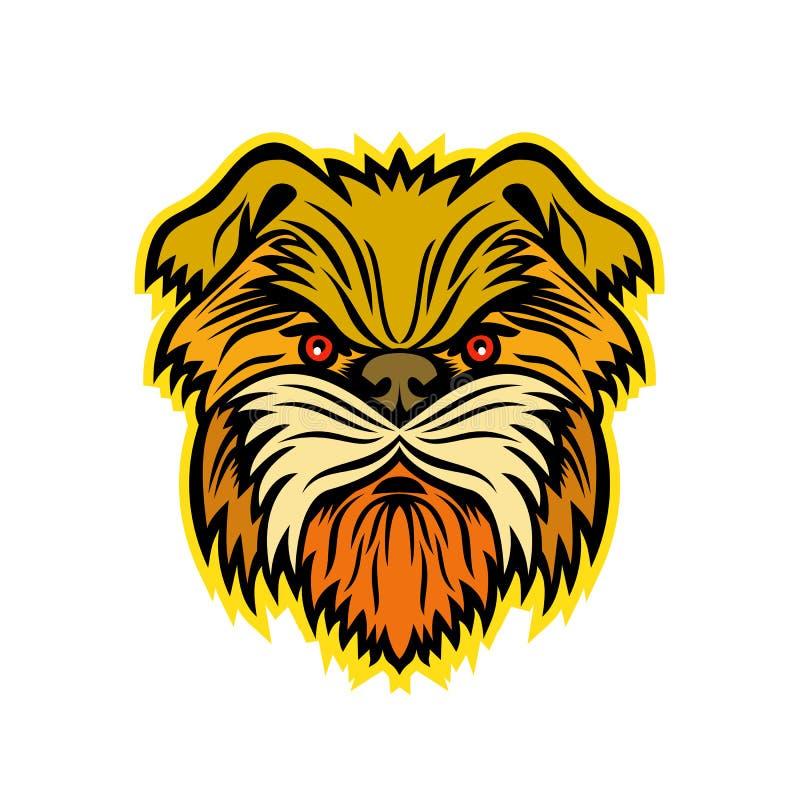 Affenpinscher Małpiego psa maskotka ilustracji