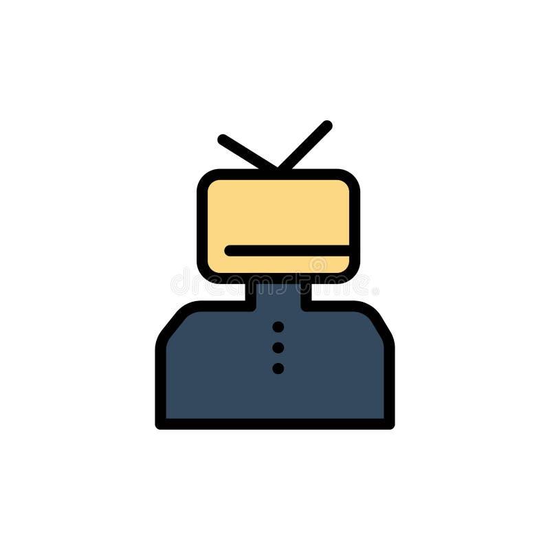 Affermazione, affermazioni, stima, felice, icona piana di colore della persona Modello dell'insegna dell'icona di vettore illustrazione di stock