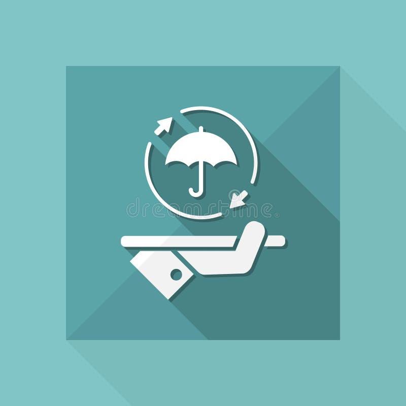 Affermissez le plein service de protection - dirigez l'icône de Web illustration libre de droits