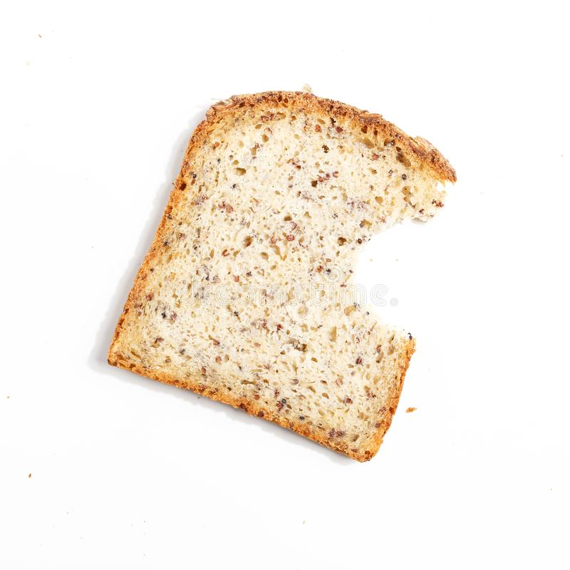 affettato di pane, isolato su un fondo bianco fotografia stock libera da diritti