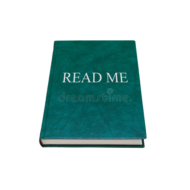 Affiché me Livre manuel avec la couverture verte d'isolement photos libres de droits