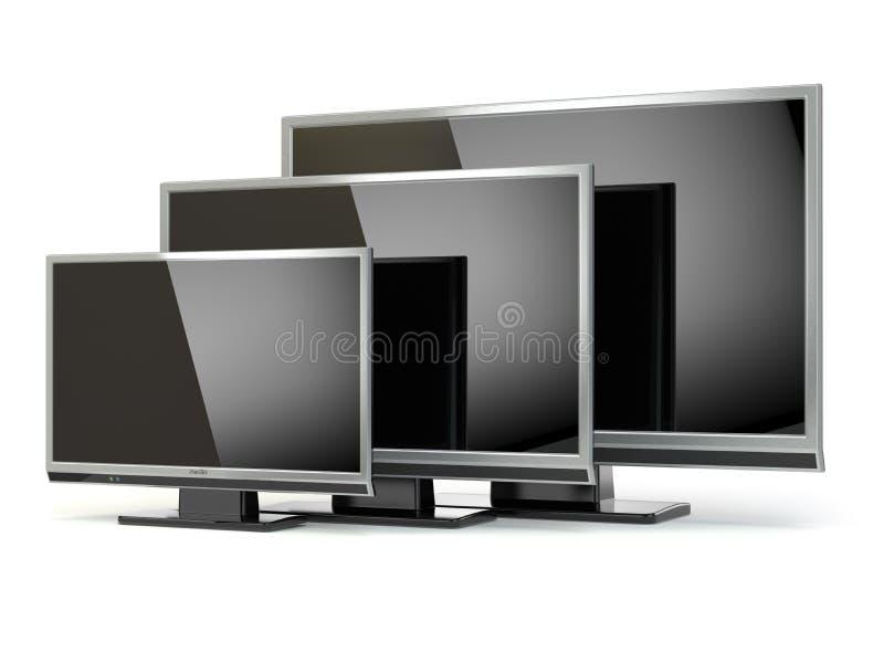 Affichage à cristaux liquides d'écran plat de TV ou plasma Télévision de radiodiffusion de Digital illustration libre de droits