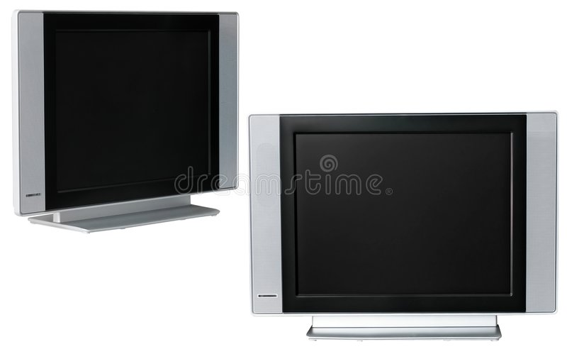 Affichage à cristaux liquides TV photographie stock libre de droits