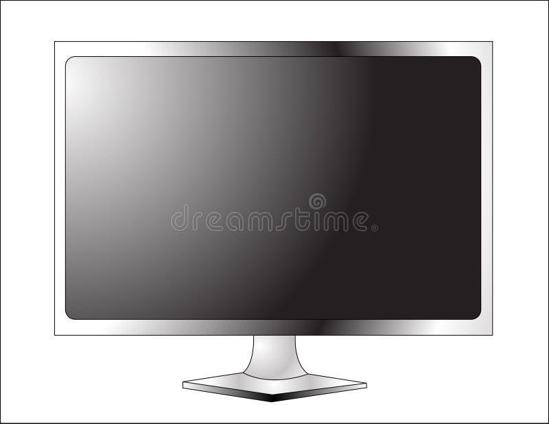 Affichage à cristaux liquides TV de plasma illustration de vecteur