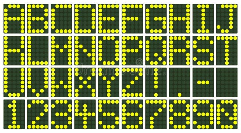 Affichage électronique de tableau indicateur illustration stock