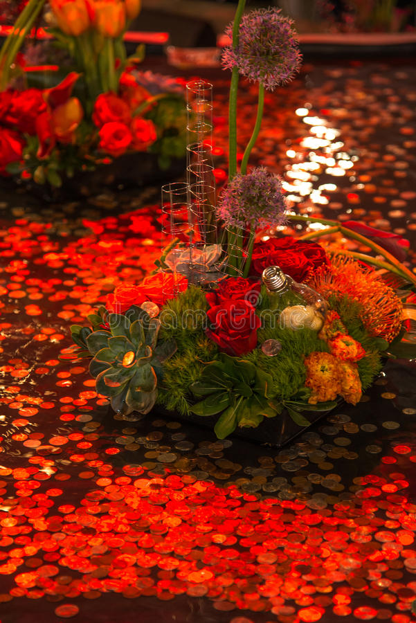 Affichage abstrait de fleur photo stock