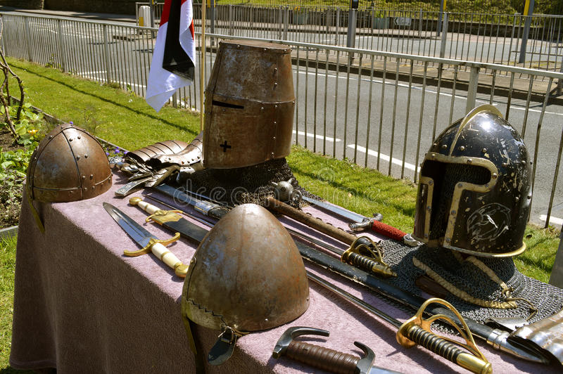 Affichage d'armure de chevaliers image stock