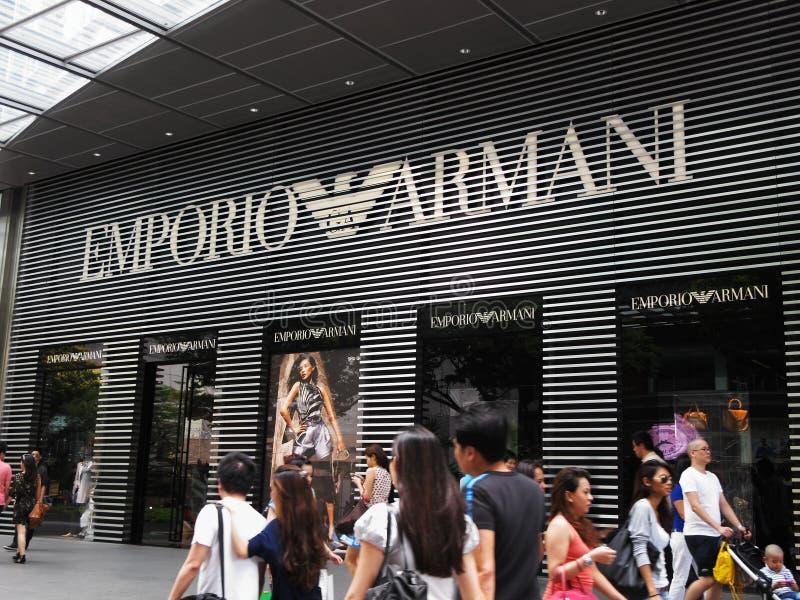 Affichage d'Emporio Armani images libres de droits