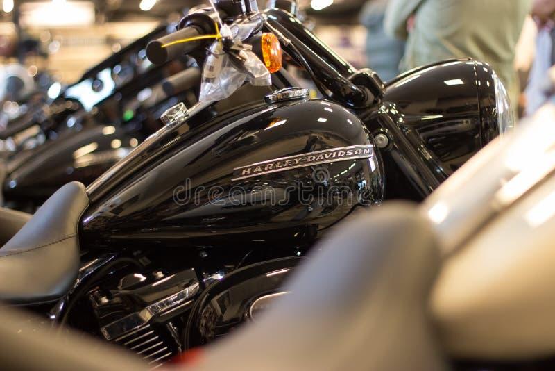 Affichage d'habillement de Harley Davidson dans la salle d'exposition photo libre de droits