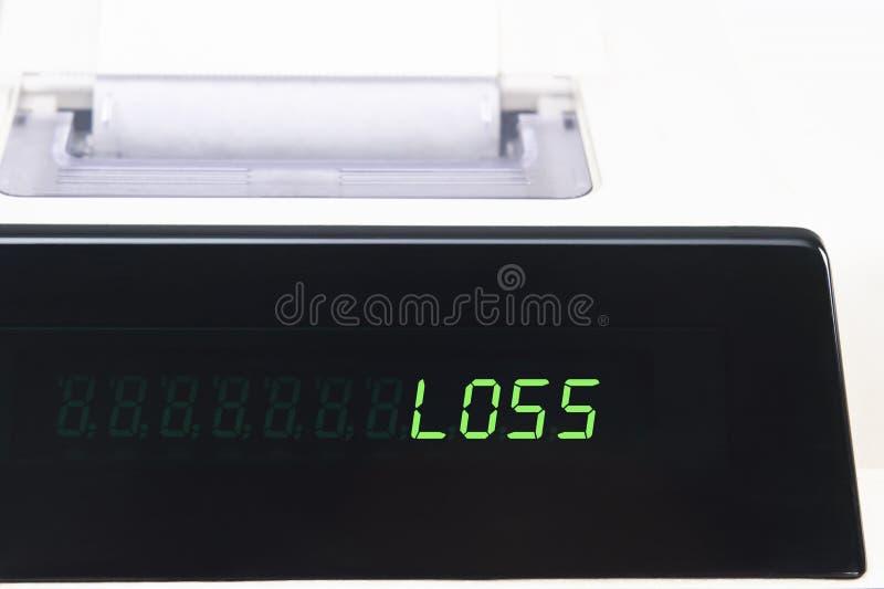 Affichage de calculatrice - perte images stock